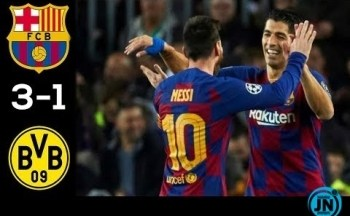 Barcelona vs Borussia Dortmund 3-1 – All Highlights & Goals